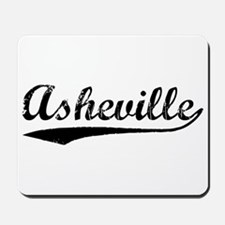 Vintage Asheville (Black) Mousepad
