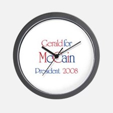 Gerald for McCain 2008 Wall Clock