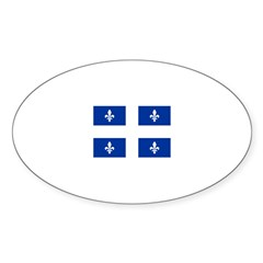 QUEBECOIS [French-Canadian] F Oval Decal