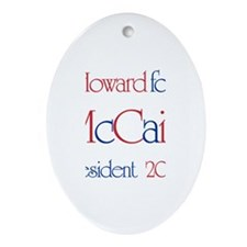 Howard for McCain 2008 Oval Ornament