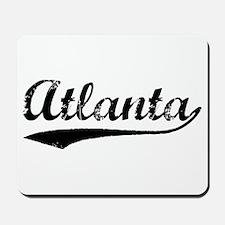 Vintage Atlanta (Black) Mousepad