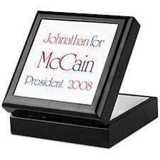 Johnathan for McCain 2008 Keepsake Box