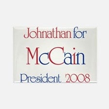 Johnathan for McCain 2008 Rectangle Magnet