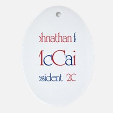 Johnathan for McCain 2008 Oval Ornament