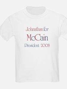 Johnathan for McCain 2008 T-Shirt