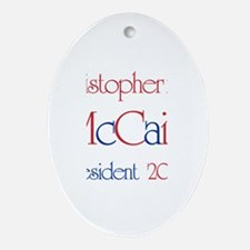 Kristopher for McCain 2008 Oval Ornament