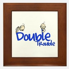 Double Trouble Framed Tile