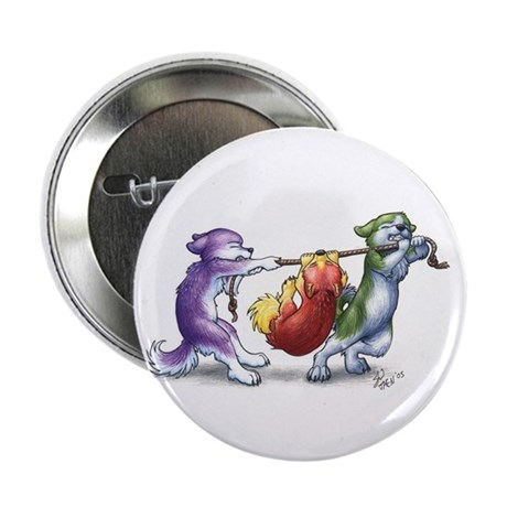 Huskie Pups on a Button