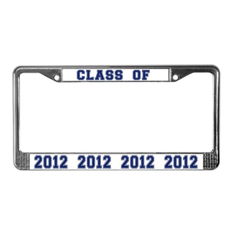 Blue Class Of 2013 License Plate Frame