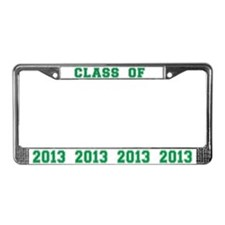 Green Class Of 2013 License Plate Frame