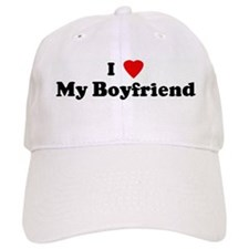 I Love My Boyfriend Baseball Cap