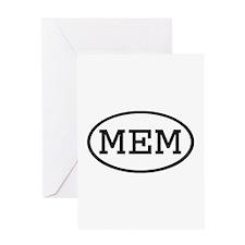 MEM Oval Greeting Card