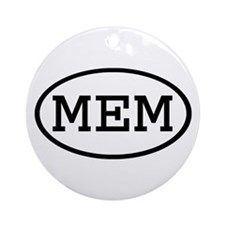 MEM Oval Ornament (Round)