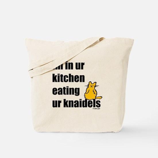 Cat and Knaidels Tote Bag