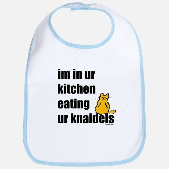 Cat and Knaidels Bib