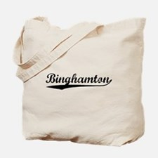 Vintage Binghamton (Black) Tote Bag