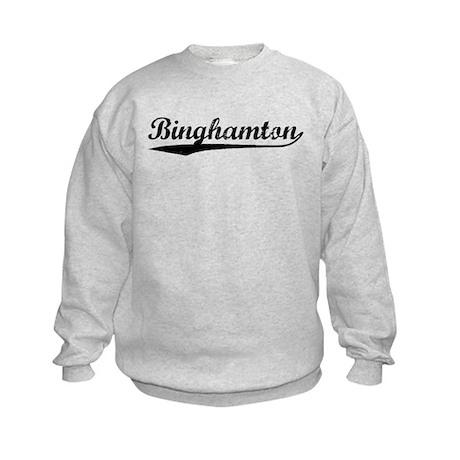Vintage Binghamton (Black) Kids Sweatshirt