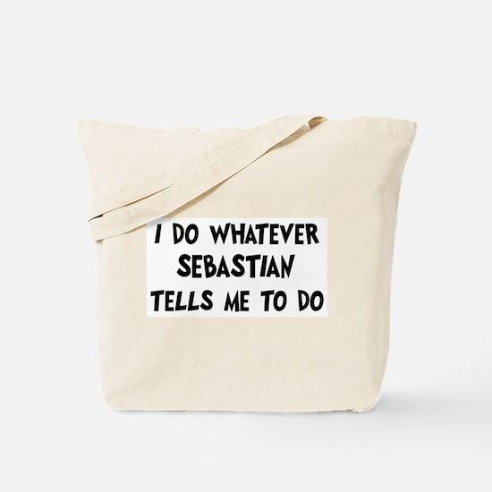 Whatever Sebastian says Tote Bag
