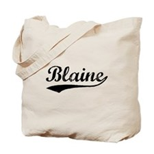 Vintage Blaine (Black) Tote Bag