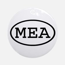 MEA Oval Ornament (Round)