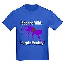 Ride the Wild Purple Monkey T