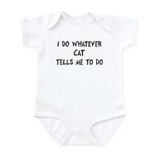 Whatever Cat says Infant Bodysuit