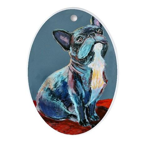 A French Bulldog Keepsake (Oval)
