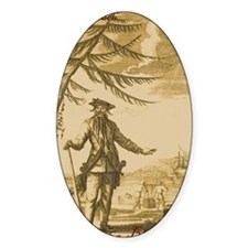 Blackbeard Oval Decal