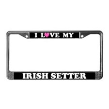 I Love My Irish Setter License Plate Frame