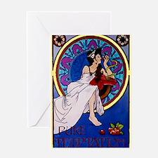 Temptations Advertising Greeting Card