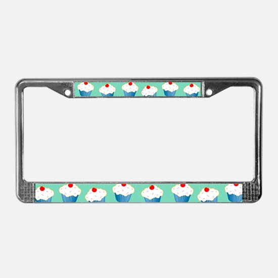 Cupcake License Plate Frame