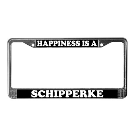 Happiness Is A Schipperke License Plate Frame