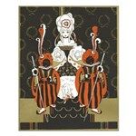 Vintage Queen of Hearts Small Poster