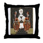Vintage Queen of Hearts Throw Pillow