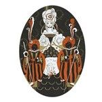 Vintage Queen of Hearts Ornament (Oval)
