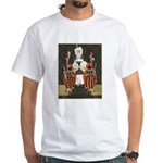 Vintage Queen of Hearts White T-Shirt
