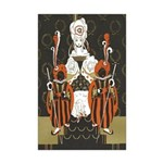 Vintage Queen of Hearts Mini Poster Print
