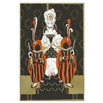 Vintage Queen of Hearts Large Poster