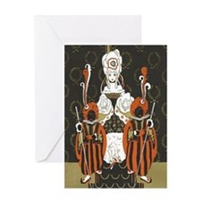 Vintage Queen of Hearts Greeting Card