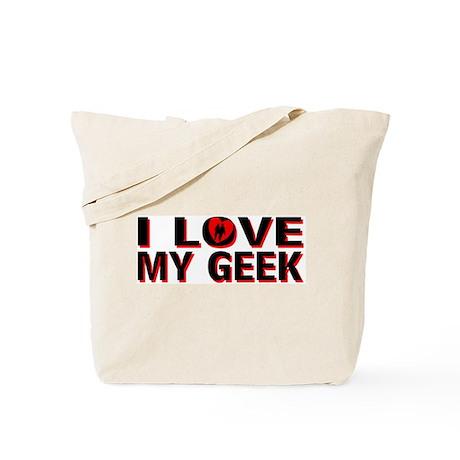 I Love My Geek Tote Bag