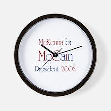 McCain for President - Mckenn Wall Clock