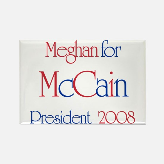 McCain for President - Meghan Rectangle Magnet