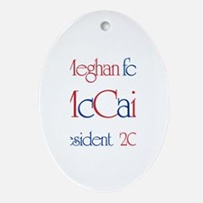 McCain for President - Meghan Oval Ornament
