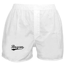 Vintage Bryan (Black) Boxer Shorts