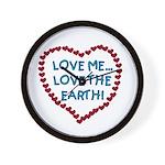 Love Me, Love the Earth Wall Clock