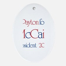 McCain for President - Payton Oval Ornament