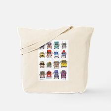 16 Trucks Tote Bag