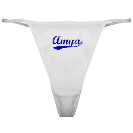 Vintage Amya (Blue) Classic Thong