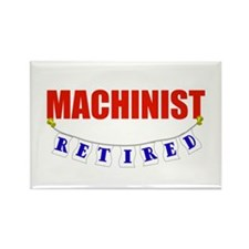 Retired Machinist Rectangle Magnet