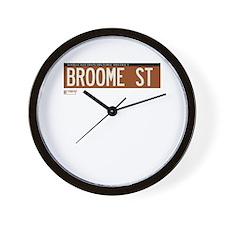 Broome Street in NY Wall Clock